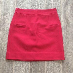 NWT J. Crew wool mini skirt